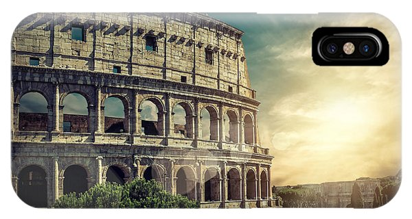 Ancient Rome iPhone Case - One Of The Most Popular Travel Place In by Andrey Yurlov