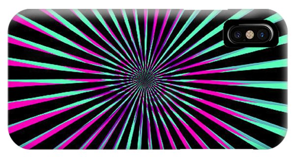Illusion iPhone Case - Optical Illusion Bright by Christiana Mustion