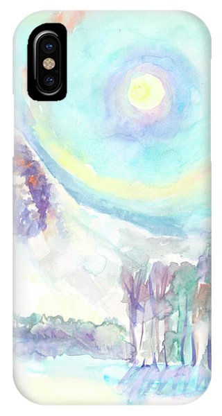 IPhone Case featuring the painting Optical Phenomenon - Halo by Dobrotsvet Art