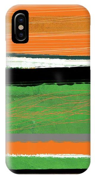 Century iPhone Case - Orange And Green Abstract II by Naxart Studio