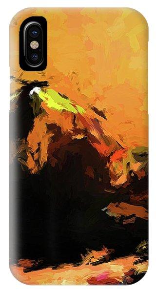 Orange Bull Cat IPhone Case