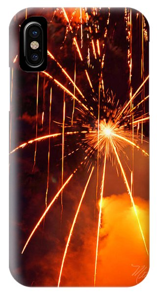 Orange Fireworks IPhone Case