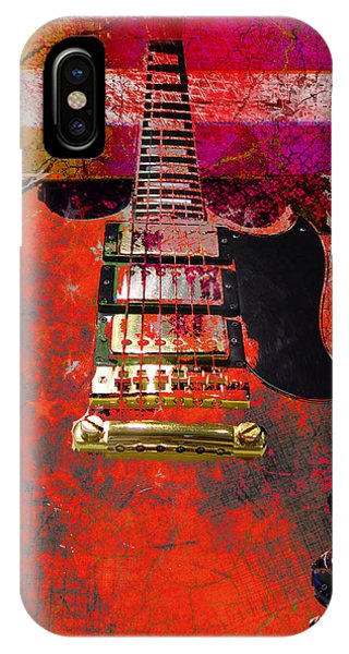 Orange Electric Guitar And American Flag IPhone Case