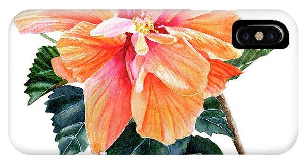 Hibiscus Flower iPhone Case - Orange Hibiscus Blossom by Sharon Freeman
