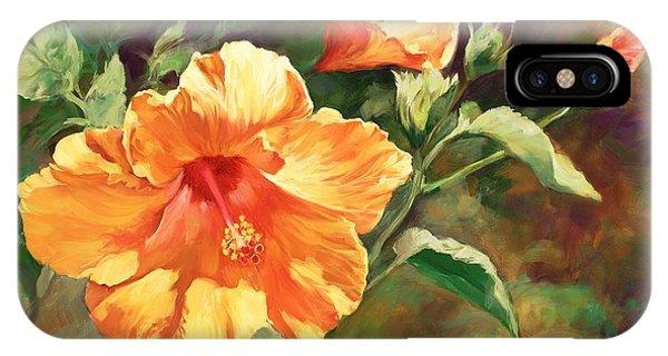 Hibiscus Flower iPhone Case - Orange Hibiscus by Laurie Snow Hein