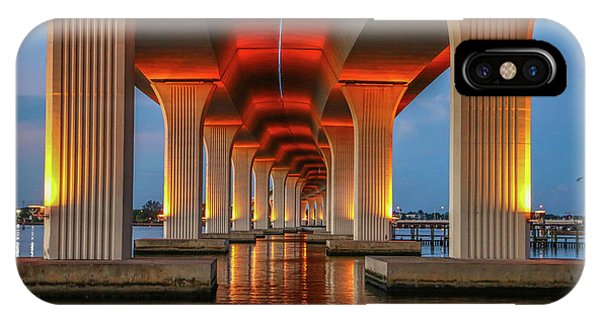 Orange Light Bridge Reflection IPhone Case