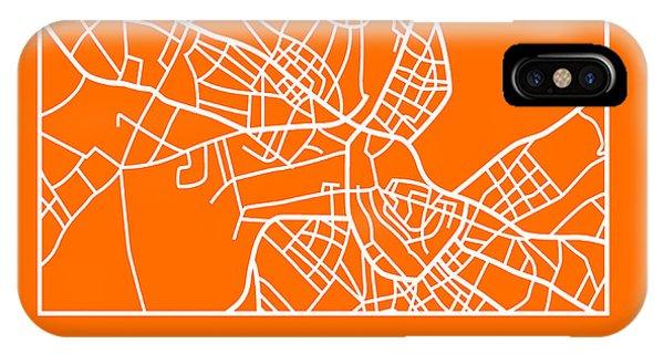Discovery iPhone Case - Orange Map Of Havana by Naxart Studio