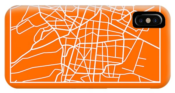 Souvenirs iPhone Case - Orange Map Of Mexico City by Naxart Studio