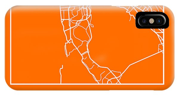 Souvenirs iPhone Case - Orange Map Of San Francisco by Naxart Studio