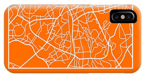 Souvenirs iPhone Case - Orange Map Of Sao Paulo by Naxart Studio