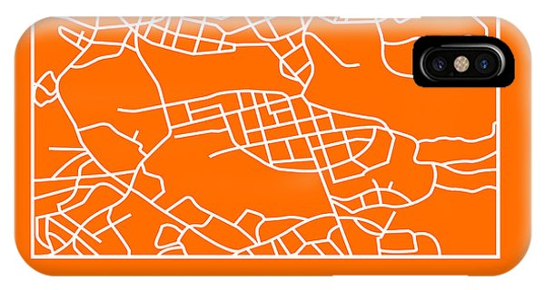 Souvenirs iPhone Case - Orange Map Of Stockholm by Naxart Studio