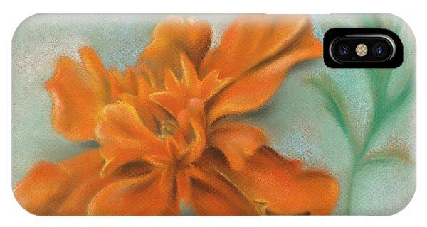 Orange Marigold And Leaf IPhone Case