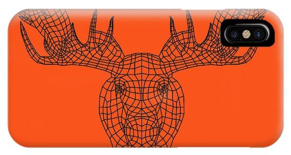 Lynx iPhone Case - Orange Moose by Naxart Studio
