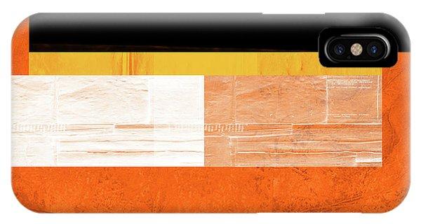 Simple iPhone Case - Orange Paper 4 by Naxart Studio