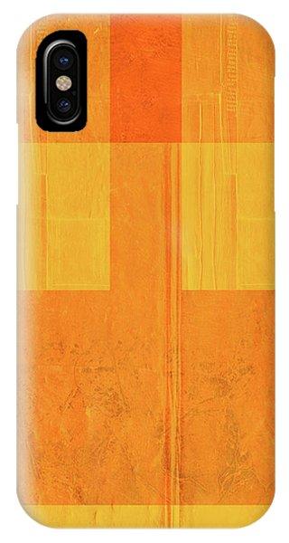 Century iPhone Case - Orange Paper I by Naxart Studio
