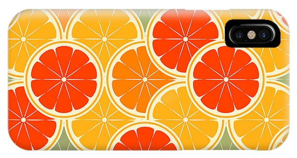 Grapefruit iPhone Case - Orange Paradise -seamless by Averin