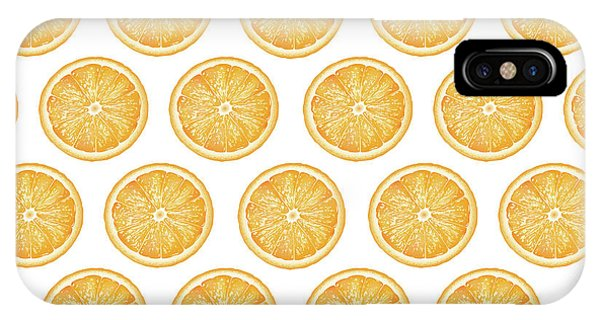 Grapefruit iPhone Case - Orange Slice Pattern 1 - Tropical Pattern - Tropical Print - Lemon - Orange - Fruit - Tangerine by Studio Grafiikka