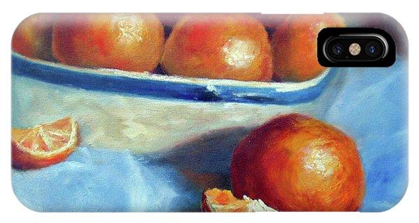 Oranges And Blue IPhone Case