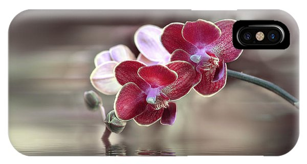 Orchid Reflection IPhone Case