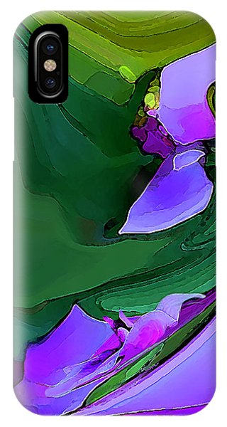 Orchids And Emeralds IPhone Case