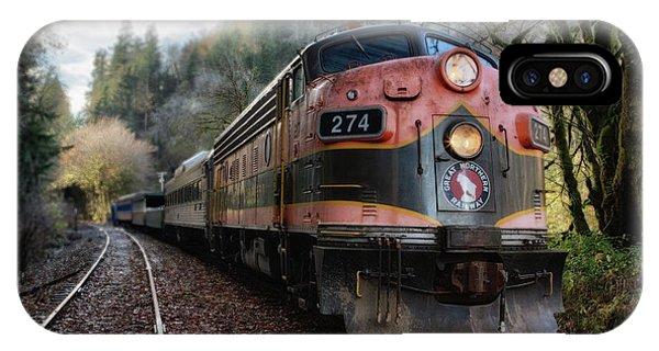 Oregon Coast Railroad IPhone Case