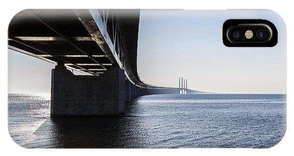 Train Tracks iPhone Case - Oresund Bridge,oresunds Bron, Bridge On by Babaroga