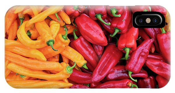 IPhone Case featuring the photograph Organic Peppers by Tim Gainey