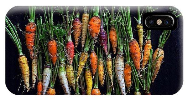 Organic Rainbow Carrots IPhone Case
