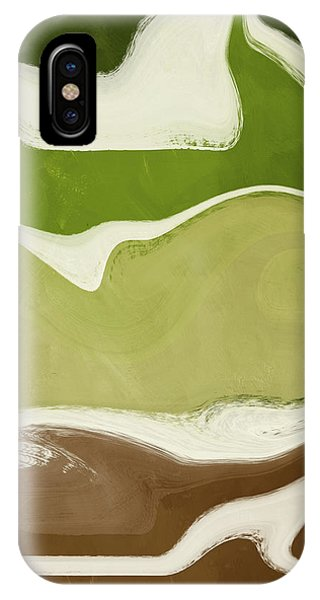Earthy iPhone Case - Organic Wave 1- Art By Linda Woods by Linda Woods