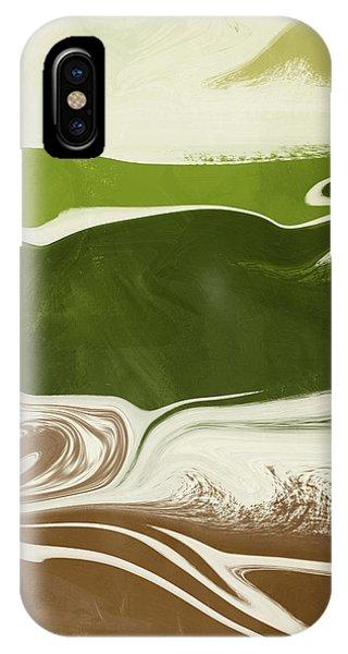 Earthy iPhone Case - Organic Wave 2- Art By Linda Woods by Linda Woods