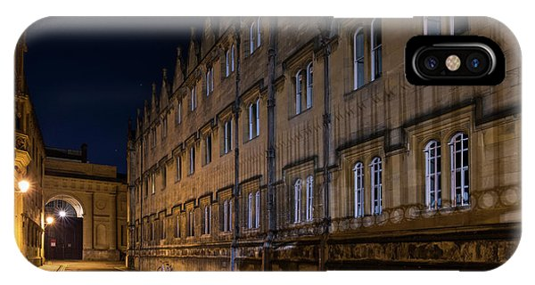 IPhone Case featuring the photograph Oriel College In Merton Street At Night by Tim Gainey