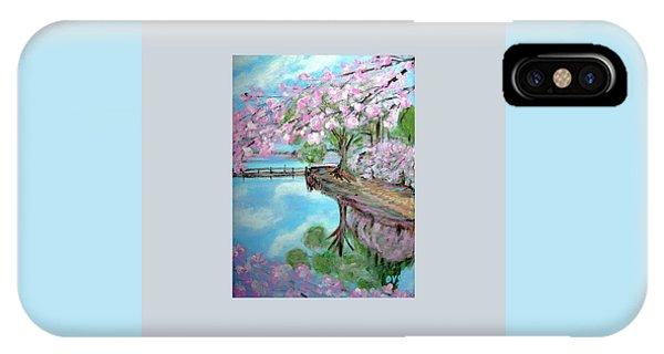Original Painting. Joy Of Spring. IPhone Case