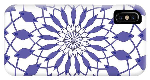 Violet iPhone Case - Ornament Number Four by Alex Caminker