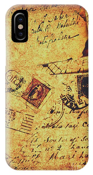 Weathered iPhone Case - Ornate Postal Grunge by Jorgo Photography - Wall Art Gallery