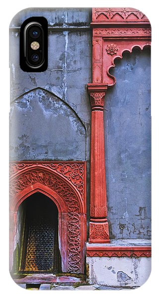 Ornate Red Wall IPhone Case