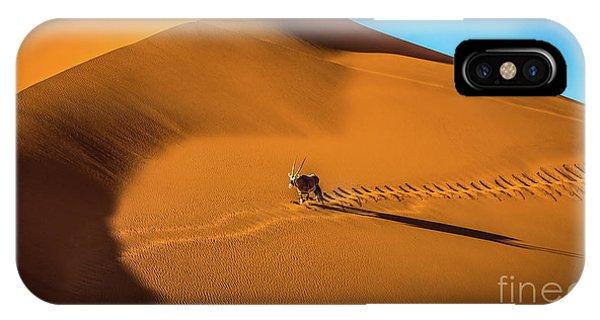 Oryx Crossing Big Daddy Dune, Sossusvlei, Namibia IPhone Case