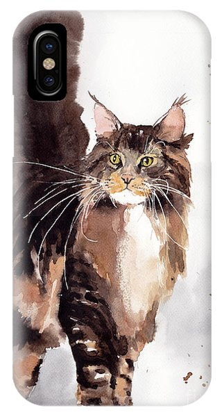 Kitten iPhone Case - Oscar by Suzann Sines
