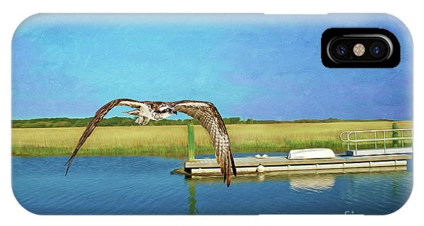 Ospreys iPhone Case - Osprey At Sapelo by Laura D Young