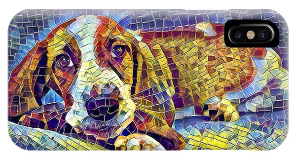 IPhone Case featuring the digital art Otis The Potus Basset Hound Dog Art  by Don Northup