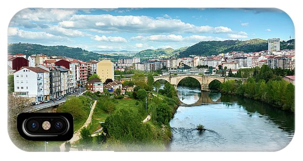 Ourense And The Roman Bridge From The Millennium Bridge IPhone Case