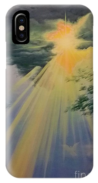 Out Of Darkness His Light Shall Shine IPhone Case