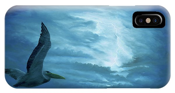 IPhone Case featuring the painting Out Of The Blue by Kevin Daly