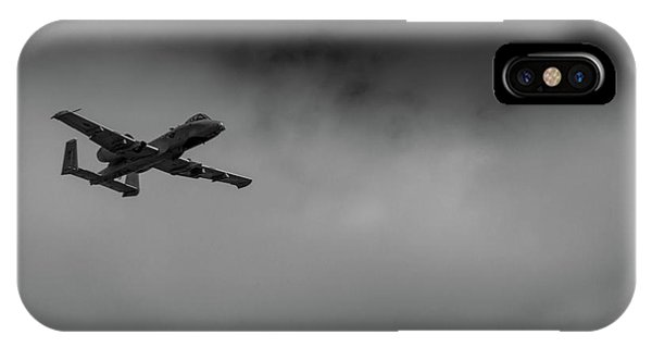 IPhone Case featuring the photograph Out Of The Clouds - A-10c Thunderbolt by Doug Camara
