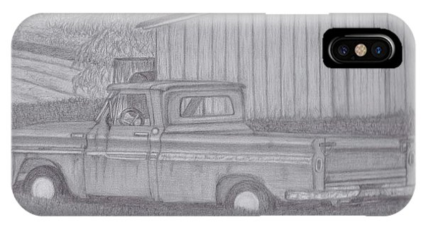 Old Chevy Truck iPhone Case - Out To Pasture by Cindi Norton