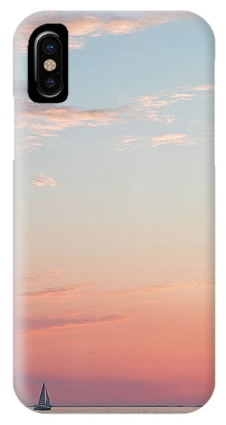 IPhone Case featuring the photograph Outer Banks Sailboat Sunset by Nathan Bush