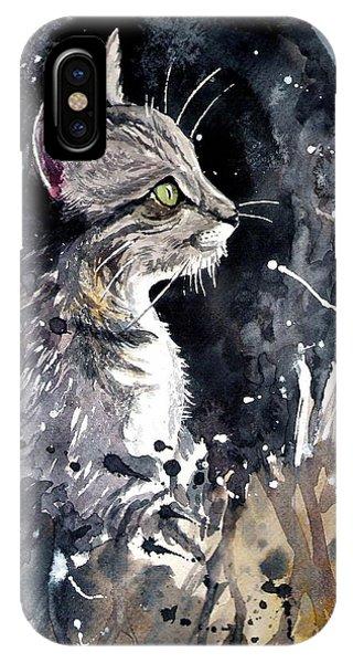Kitten iPhone Case - Overnight Call by Suzann Sines