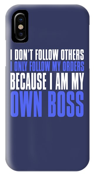 My Own Boss IPhone Case