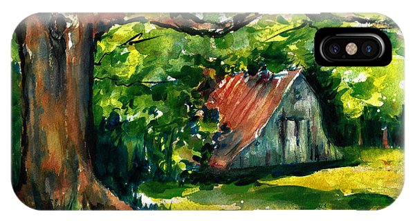 Ozarks Barn In Boxley Valley - Late Summer IPhone Case