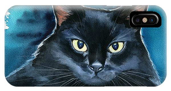 Ozzy Black Cat Painting IPhone Case