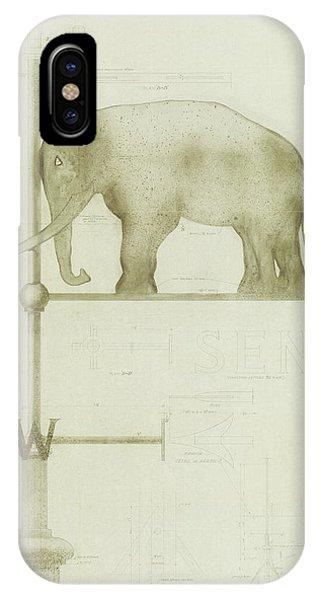 Pachyderm House, Philadelphia Zoo, Detail Of Weather Vane IPhone Case